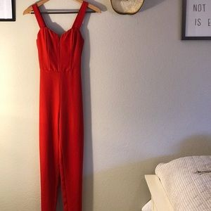H&M Red Fitted Jumpsuit